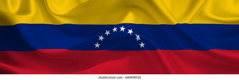 Venezuela waving flag wide format