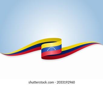 Venezuelan flag wavy abstract background layout. Raster version.