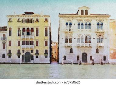 Venice (Italy) in watercolor