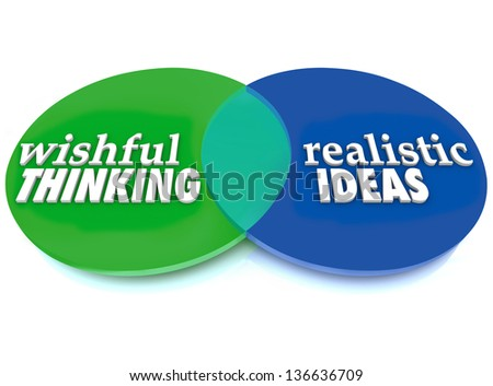 Venn Diagram Overlapping Circles Words Wishful Stock Illustration