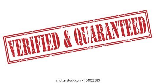 verified & quaranteed stamp