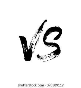Versus logo. VS logo. Versus icon. VS icon. Hand lettering