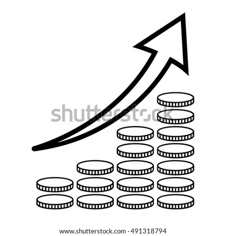Vertical Bar Graph Diagram Representing Growth Stock Illustration