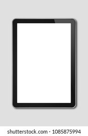 Vertical Digital tablet pc, smartphone mockup template. Isolated on grey