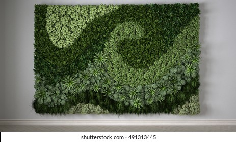 Vertical gardening, 3d illustration