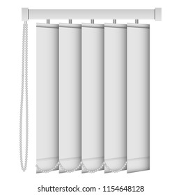 Vertical louver mockup. Realistic illustration of vertical louver mockup for web design isolated on white background