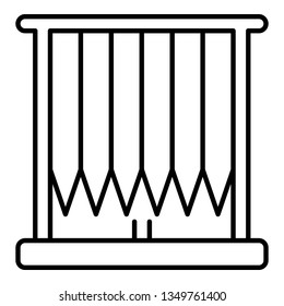 Vertical louvers icon. Outline vertical louvers icon for web design isolated on white background