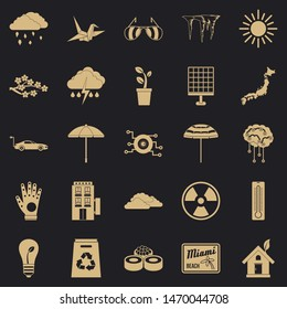 Very bad weather icons set. Simple set of 25 very bad weather icons for web for any design