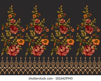 very beautiful baroque style design for digital print