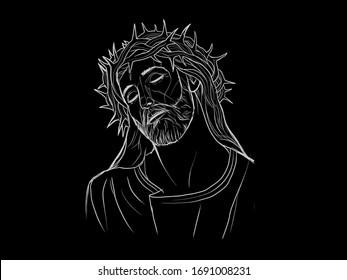 Black White Jesus Images Stock Photos Vectors Shutterstock