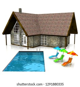 a very beautifull house 3D illustration
