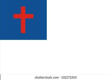 very big size christian religion flag