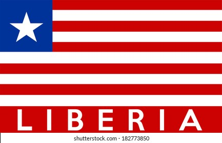 very big size illustration country flag of Liberia