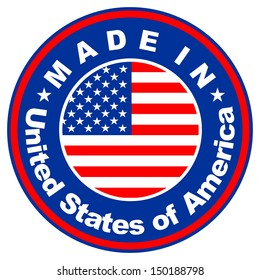 very big size made in united states of america label illustration
