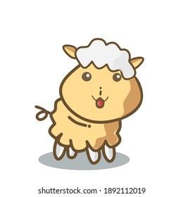Very cute sheep to make farm icons