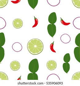Very cute Tomyum pattern seamless.
