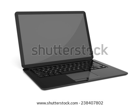 very high resolution simple laptop 3 d stock illustration 238407802