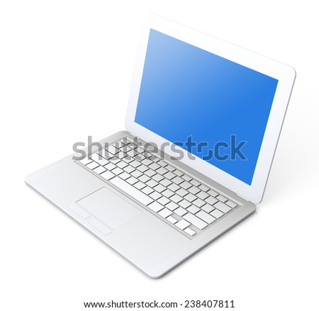 very high resolution simple laptop 3 d stock illustration 238407811