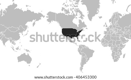 Royalty Free Stock Illustration Of Very Light Grey World Map