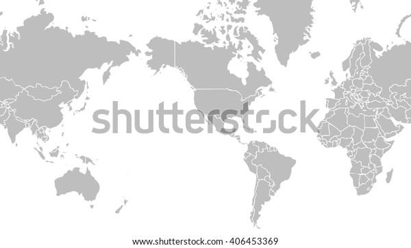 Sehr Hellgraue Weltkarte Die Sich Auf Stockillustration