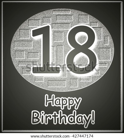 Very Nice 18th Happy Birthday Greeting Stock Illustration Royalty