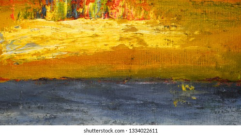 Very Nice Image of a large scale abstract Original painting on Canvas Burlap