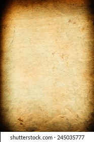 very old brown paper background with space for text or image