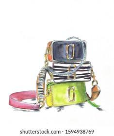 Vibrant Designer CrossBody Bag Stack