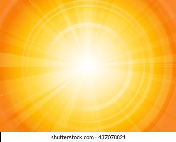 Vibrant hot summer sun