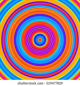 Vibrant orange and blue colour circles illustration.