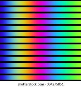 Vibrant rainbow color stripes on black.