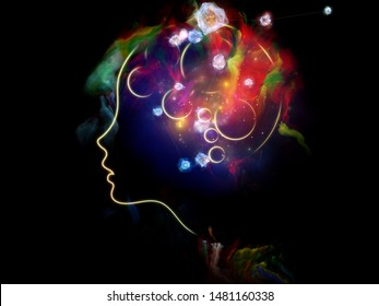 Vibrant Thinking. Inner Nature series. Backdrop of child's mind illustration fused with fractal paint in association with art, creativity, poetry and spiritual life