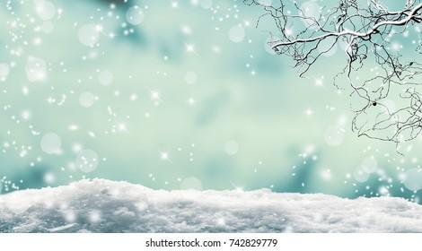vibrant winter landscape