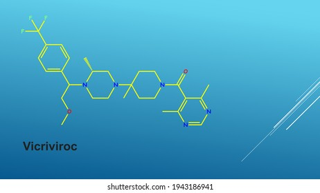 Vicriviroc, previously named SCH 417690 and SCH-D, is a pyrimidine CCR5 entry inhibitor of HIV-1