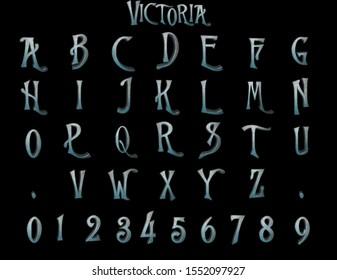 Victoria Alphabet - 3D Illustration