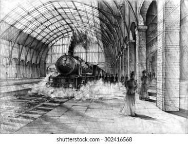 British Steam Locomotive Images, Stock Photos & Vectors