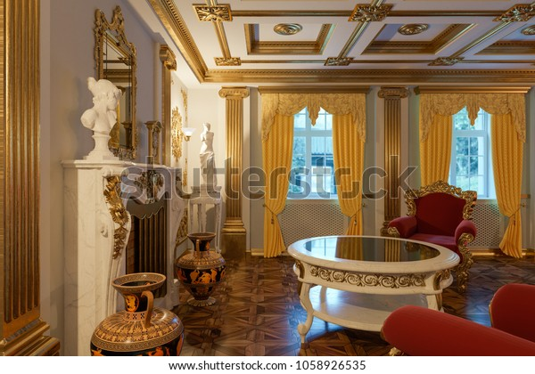 Victorian Style Living Room Modern Furniture Stock Image ...