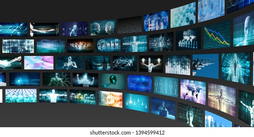 Video Analytics Technology and Content Analysis Concept 3D Render