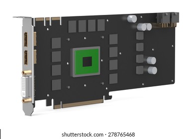 video card isolated on white background