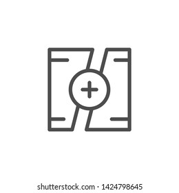 Video montage line icon isolated on white