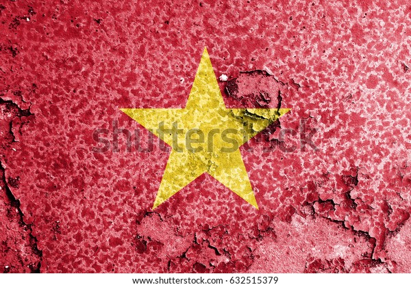 Vietnam flag grunge background. Background for design in country flag
