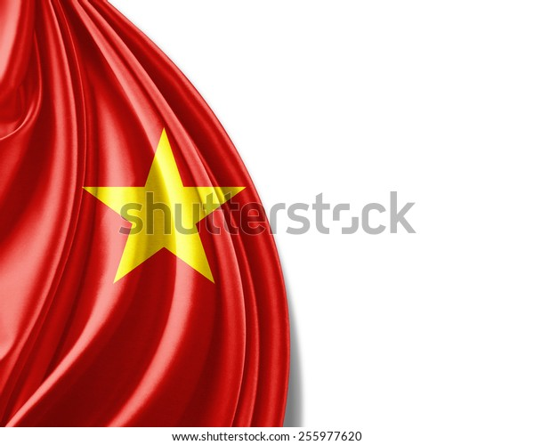 Vietnam flag and white background