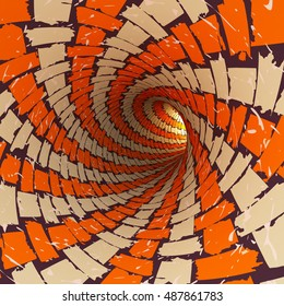 View of an abstract tunnel, 3D