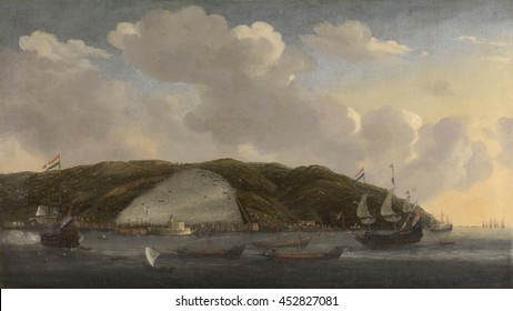 View of Algiers with De Ruyter's Ship 'De Liefde,' 1662, by Reinier Nooms, 1662-68, Dutch painting, oil on canvas. From 1661 until 1663, Admiral Michiel de Ruyter performed convoy duty in the Mediter