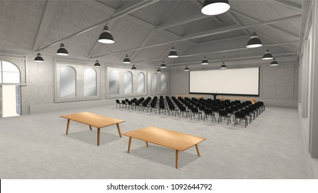 The view of conference hall