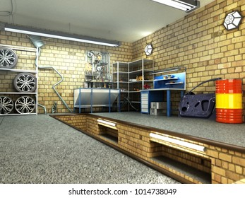 Similar images stock photos vectors of view garage d interior