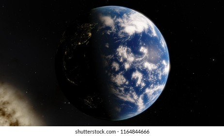 View of the planet Earth from space, 3D illustration (elements of this image furnished by NASA)