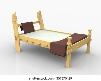 "Viking ""dragon"" bed"
