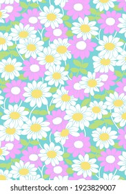 Vintage 60s daisies and other flowers