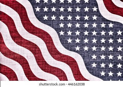 Vintage abstract of american flag